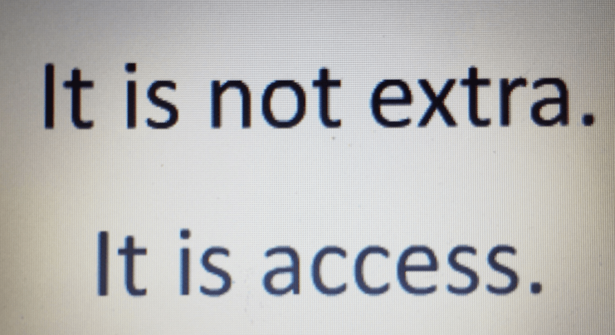 It is not extra